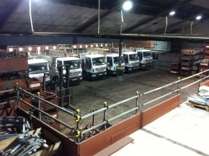 design scaffolding lorry fleet