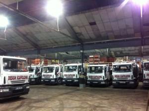 Scaffolding lorries