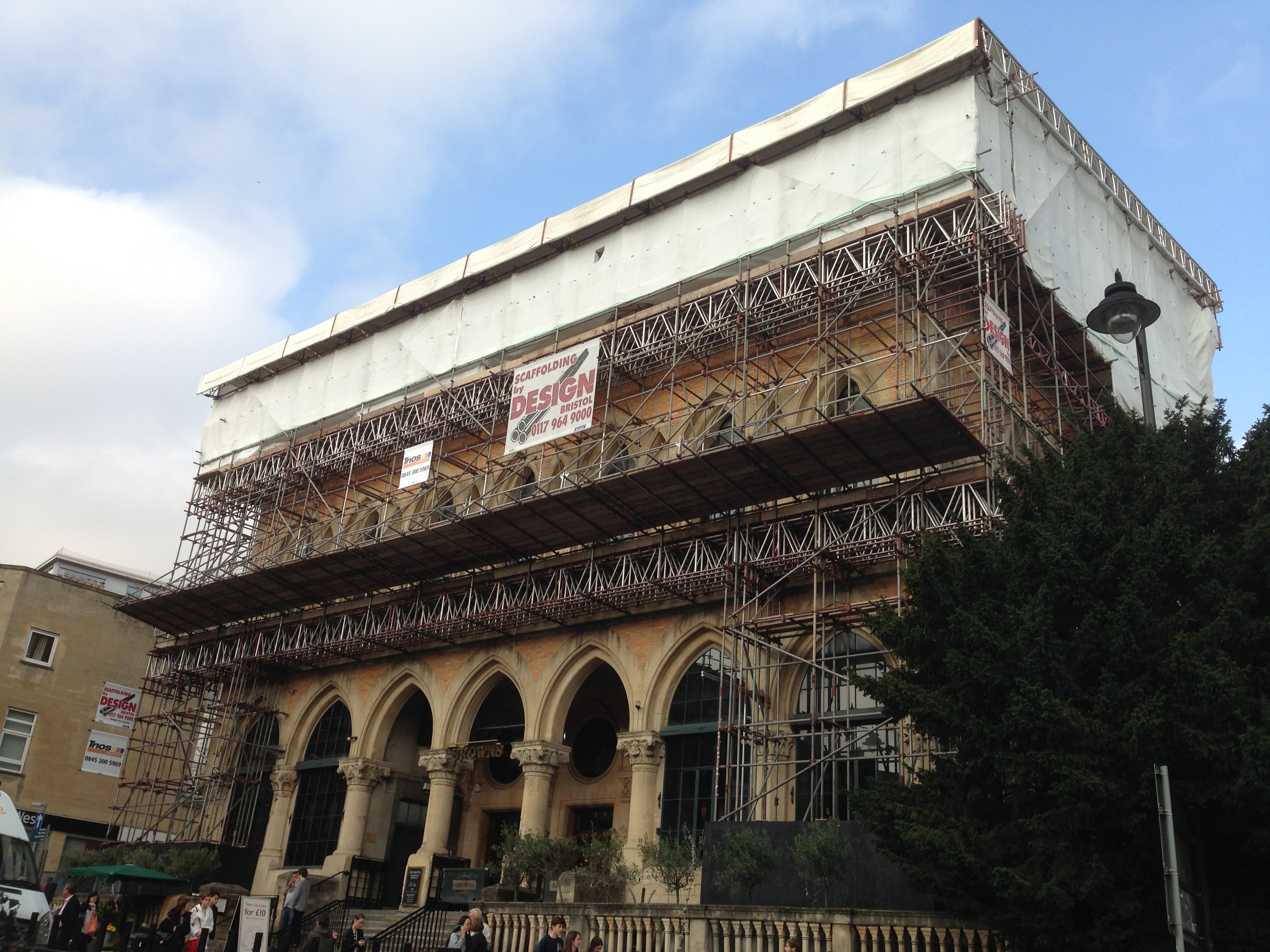 Browns clifton bristol scaffold
