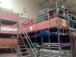 design scaffolding storage yard