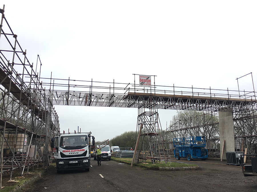 bridge scaffolding